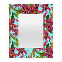 Sharon Turner Stargazer Lilies Rectangular Mirror