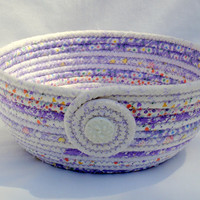 Baby Shower Violet Coiled Fabric Bowl