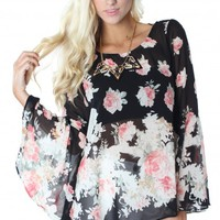 Romantic Rose Bell Blouse