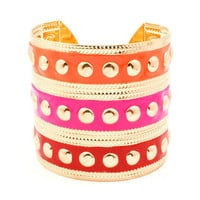Pree Brulee - Color-blocking Cuff