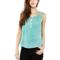 Papaya Clothing Online :: FLORAL DAISY PRINT LACY TOP