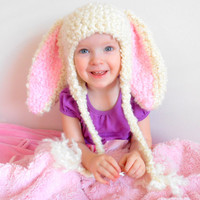 Easter Hats Bunny Hat Photo Props Cute Easter Clothes Hats for Kids Rabbit Ears Earflaps