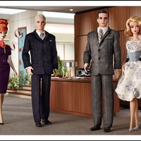 Barbie Collector Mad Men Complete 4 Doll Set BFC Exxclusive SOLD OUT Roger Sterling, Don & Betty Draper, Joan Holloway