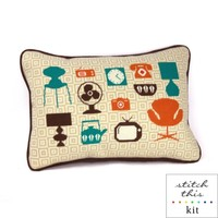 mod home needlepoint kit - modern - diy