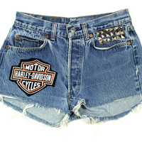Harley Studded Cutoffs