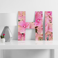 Lisa Argyropoulos Pink Hydrangeas Decorative Letters