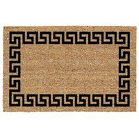 USCOA Intl 31681 Decoir Brush Entrance Mat - Greek Key