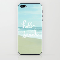 Hello, Beach iPhone & iPod Skin by Avenue L Designs | Society6