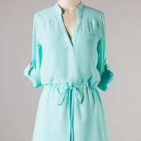 """Claire"" Dress in Mint"