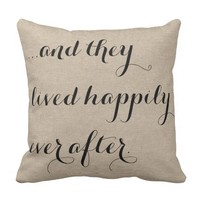 And they lived happily ever after burlap rustic ch