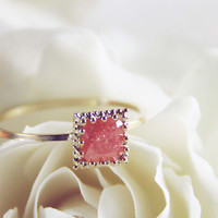 Desert Shard Ring in Rose