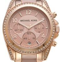 Michael Kors 'Blair' Crystal Bezel Two-Tone Bracelet Watch, 39mm | Nordstrom