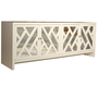 Pieces - Fretwork &amp; Chrome Credenza - 1stdibs