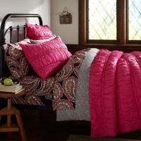 Ruched Quilt, Full/Queen, Pink Magenta