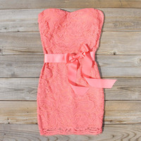 Arizona Lace Dress in Coral