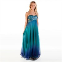 Blondie Nites Juniors Strapless Ombré Gown at Von Maur