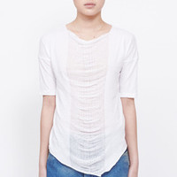 Totokaelo - Raquel Allegra Deconstructed Jersey Basic T-Shirt Solid With Shred - $173.00
