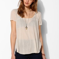 Pins And Needles Linen Seamed Tee - Urban Outfitters