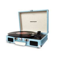 Light Blue Portable Record Player