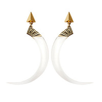 Jenny Bird Guardian Tusk Hoops | SWANK