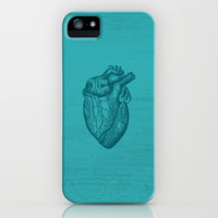 Blue Heart iPhone & iPod Case by hyakume