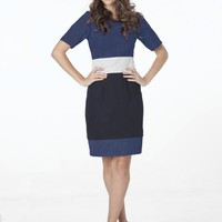 Navy Cotton Drill Dress