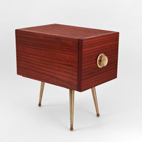 Hindsvik | Mid Century Modern Furniture, Home Decor & Design Shop - Vintage Wood and Brass Side Table