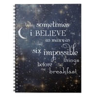 Impossible Things Stars Spiral Notebook