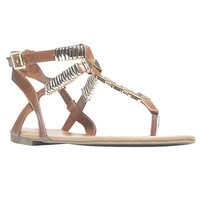 Hardware Detail T-Strap Sandals | Wet Seal