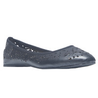 Perforated Faux Leather Ballet Flats | Wet Seal