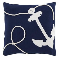 Oh Buoy Anchor Throw Pillow