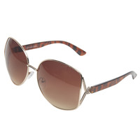 Crisscross Temple Oversized Sunglasses | Wet Seal