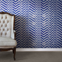 Astek Wallcovering Inc. Galactic Seizure Chevron Herringbone Tiles Wallpaper