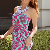 Mint Tribal Maxi Dress
