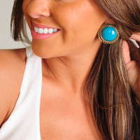 RESTOCK: Beautiful Times Earrings: Teal