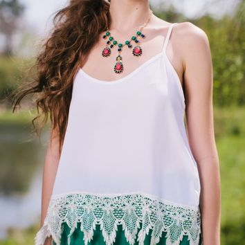Lace in the Sun Summer Top - Lotus Boutique