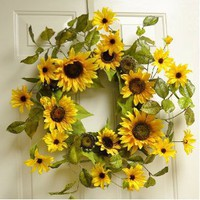 Sunny Summer Sunflower Wreath