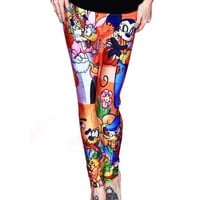 "Women's ""Mickey and Foes"" Leggings by Living Dead"