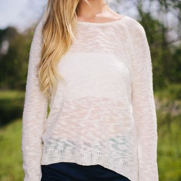 Back to the Lace Sweater - Lotus Boutique