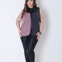 Color Block Sleevless Top
