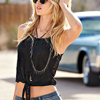 Tie-front Tank - The Lace Collection - Victoria's Secret