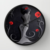 Sensual Victoria Wall Clock by LouJah | Society6