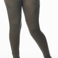 Olive Green Harem Legging Pants