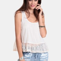 All Along Lace Detail Top