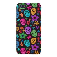 Floral Sugar Skull Pattern iPhone 5 Case