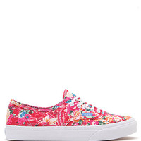 Vans Multi Floral Authentic Slim Sneakers at PacSun.com