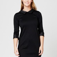 Black Monochrome Shift Dress