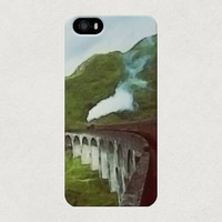 Hogwarts Express Harry Potter Watercolour Style Illustrated iphone 4 4s 5 5s 5c Samsung Galaxy S3 S4 Case