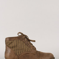 Libby-09 Lace Up Round Toe Bootie