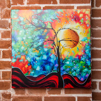 Madart Inc. Bursting Forth Gallery Wrapped Canvas